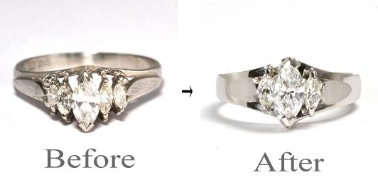 2011-104-6リフォーム婚約指輪