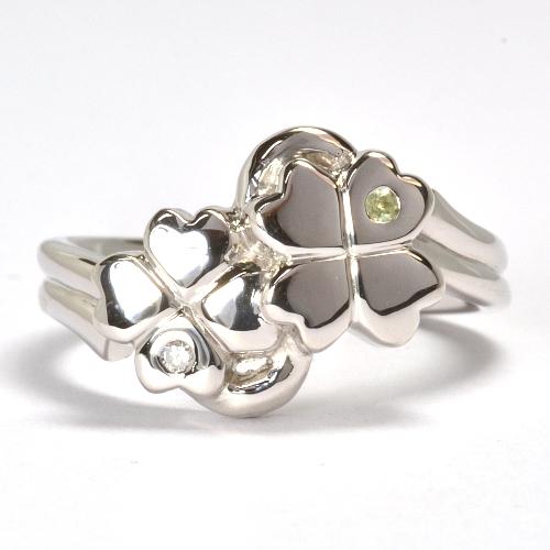 2011-108-1クローバー婚約指輪