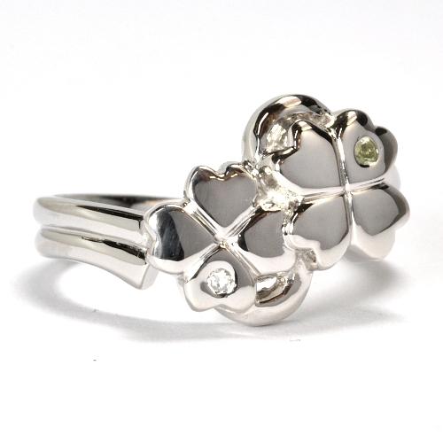 2011-108-3クローバー婚約指輪