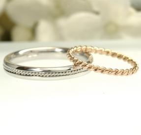 縄目模様の結婚指輪