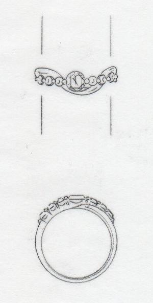 2013-25-1婚約指輪ハートアンドキューピット